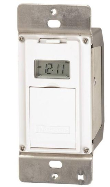 Timer, In- Wall, Digital Indoor, 15 Amp, 125 VAC, 24/7
