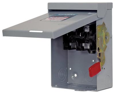 Siemens, Service Interruptor Switch, 60 Amp, 240 VAC, 2 Pole