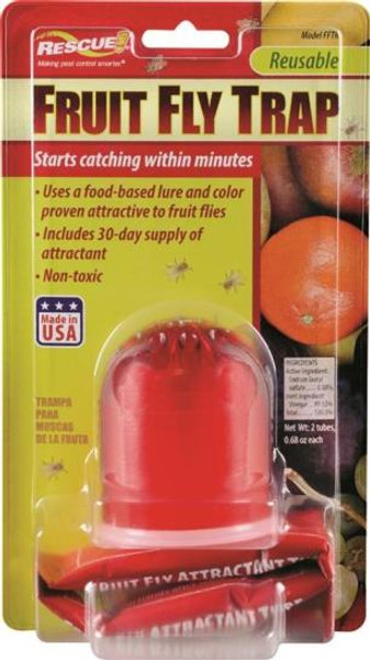 Fruit Fly Trap, Includes 2 Refills