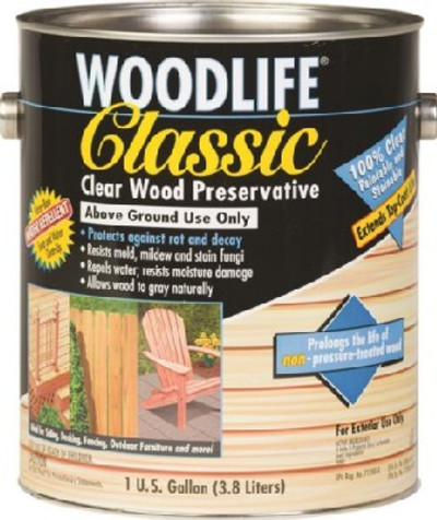Woodlife Classic, Clear Wood Preserver, Gallon