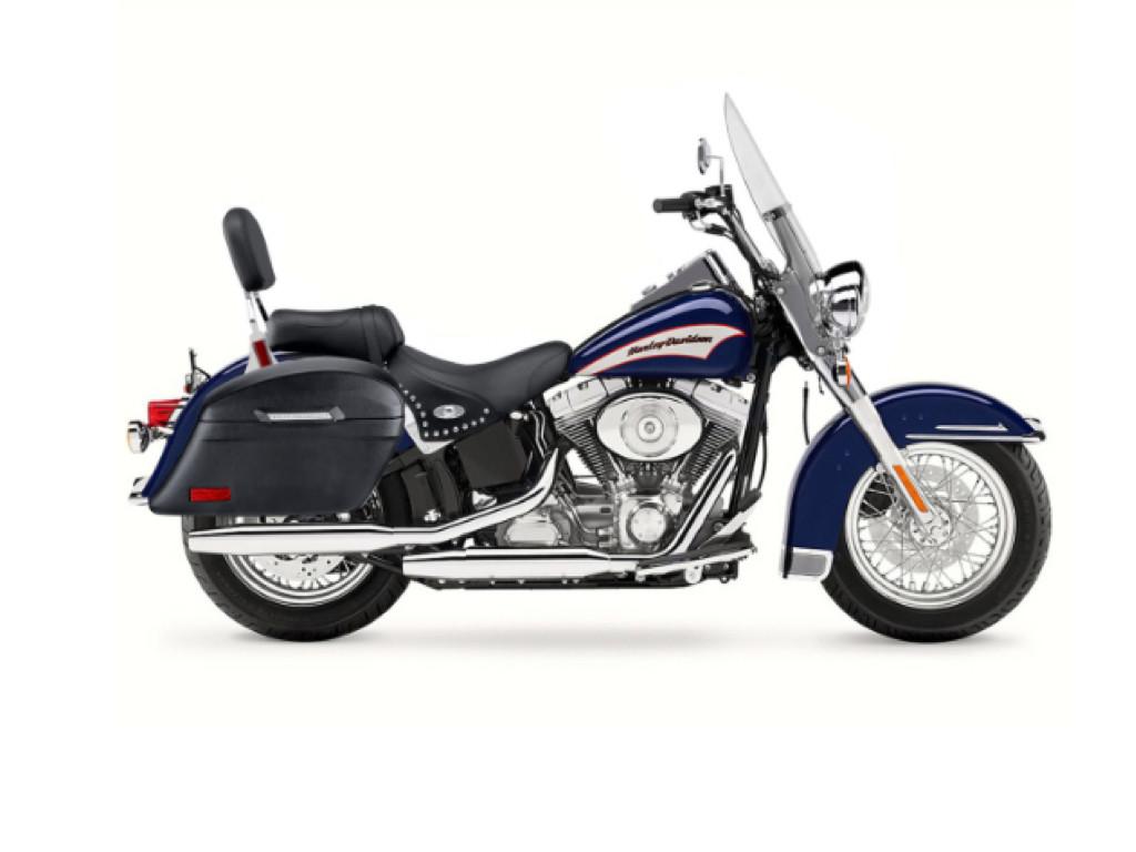 VIKING LAMELLAR SLANTED LEATHER MOTORCYCLE HARD SADDLEBAGS FOR HARLEY SOFTAIL HERITAGE FLSTC