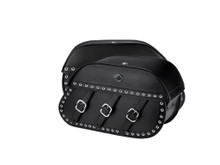 VIKING TRIANON STUDDED MOTORCYCLE SADDLEBAGS FOR HARLEY SOFTAIL HERITAGE FLSTC