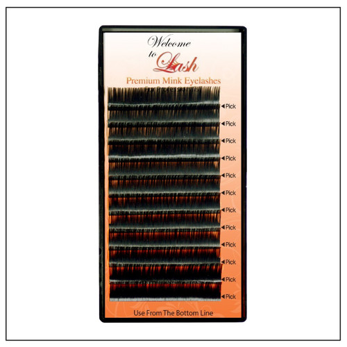 Single Classic CC Curl 9mm to 16mm Premium Mink Eyelash Extension Tray