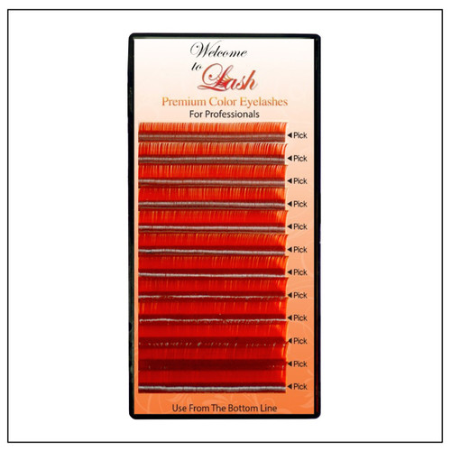 CC Curl Mixed Length Premium Red Eyelash Extension Supplies  - Welcome To Lash Supplies