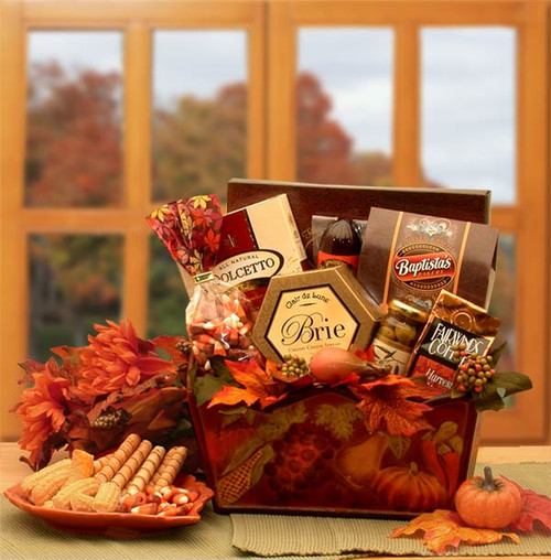 A Gourmet Fall Harvest Fall Gift Basket