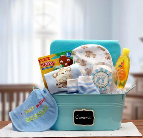 Baby Basics Gift Pail Blue