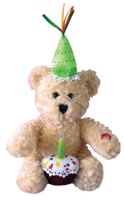 Happy Birthday Plush Cupcake Bear