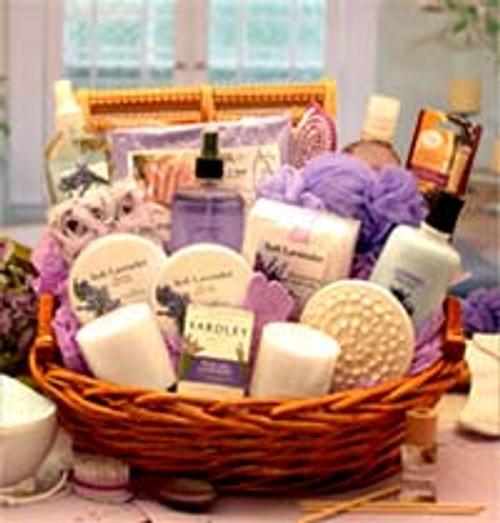 The Essence of Lavender Spa Gift Basket