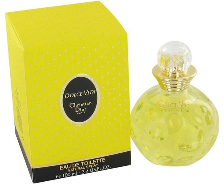 Dolce Vita Womens Perfume by Christain Dior Edt Spray 3.4 oz