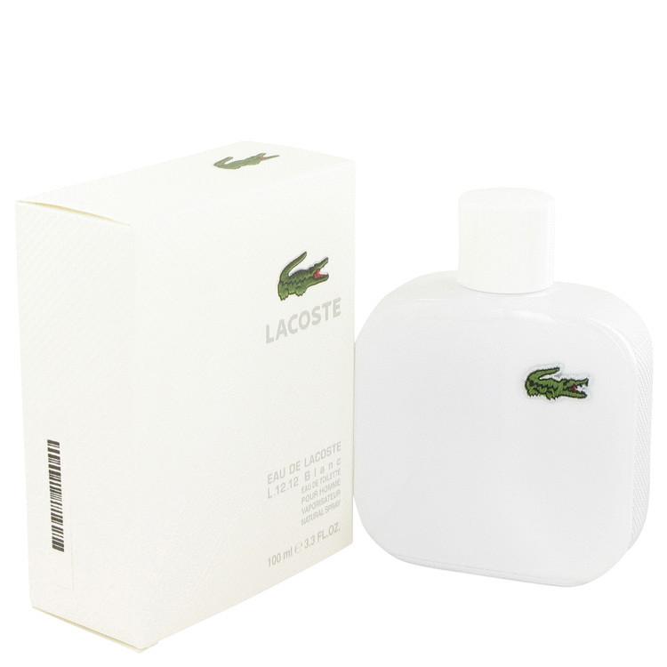 Eau De Lacoste L.12.12 Blanc Cologne for Men by Lacoste Edt Spray 3.3 oz
