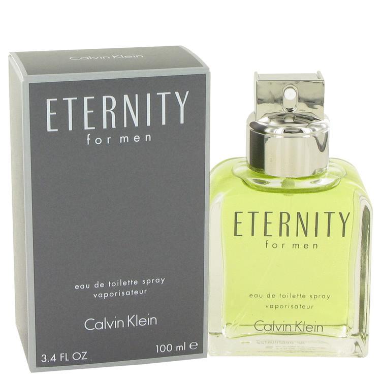 Eternity Cologne for Mens By Calvin Klein Edt Spray 3.4 oz