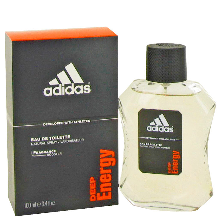Adidas Deep Energy Mens Cologne by Adidas Edt 3.4 oz