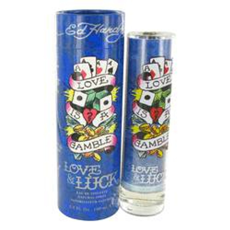Ed Hardy Love and Luck Fragrance Mens by Christian Audigier Edt Spray  3.4oz