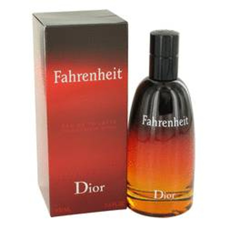 Fahrenheit  for Men's by Christian Dior  Edt Spray  3.4 oz