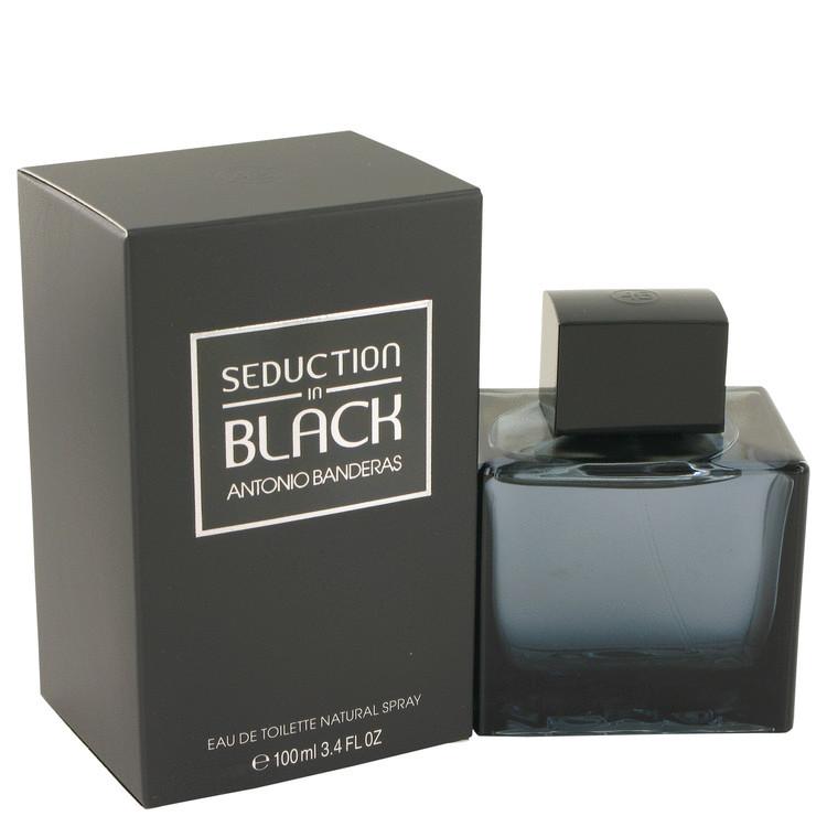 Seduction In Black Cologne For Men Edt Spray 3.4oz
