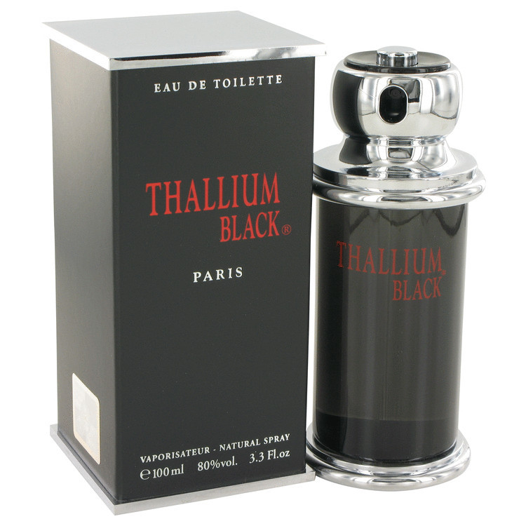 THALLIUM BLACK COLOGNE FOR MEN 3.3oz EDT SPRAY