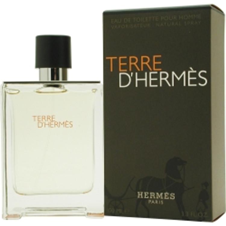 Terre D'Hermes by Hermes Eau De Toilette Spray 3.4 oz Men