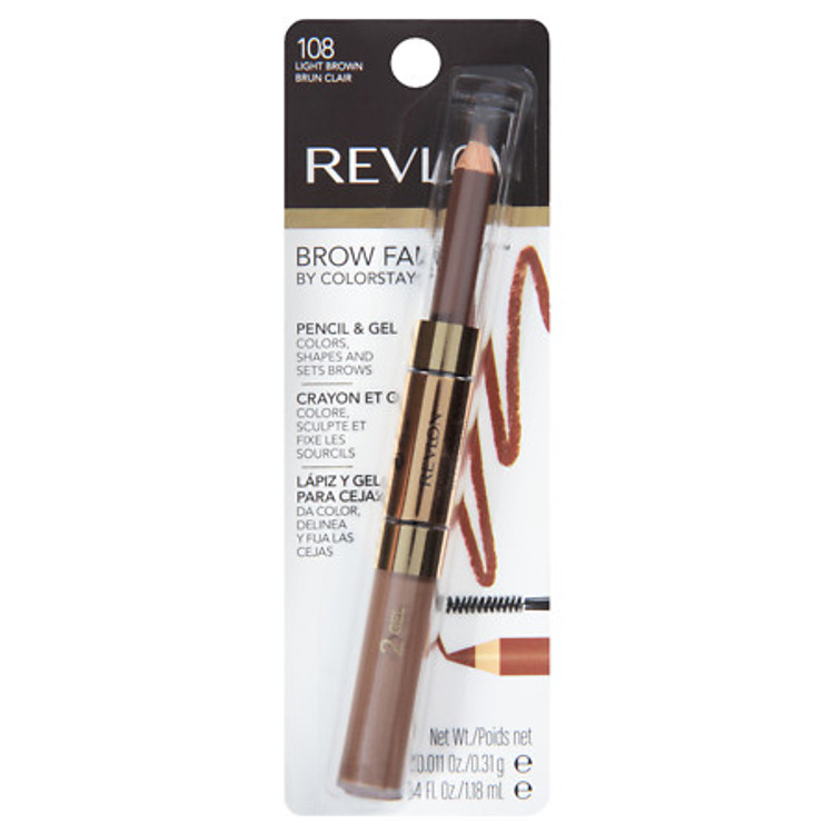 REVLON COLORSTAY BROW FANTASY GEL PENCIL LIGHT BROWN 0.04 OZ