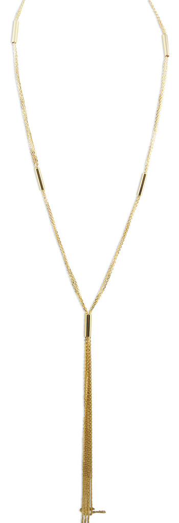 Triple Strand 925 Silver Plated with 18 kt  Yellow Gold Plating