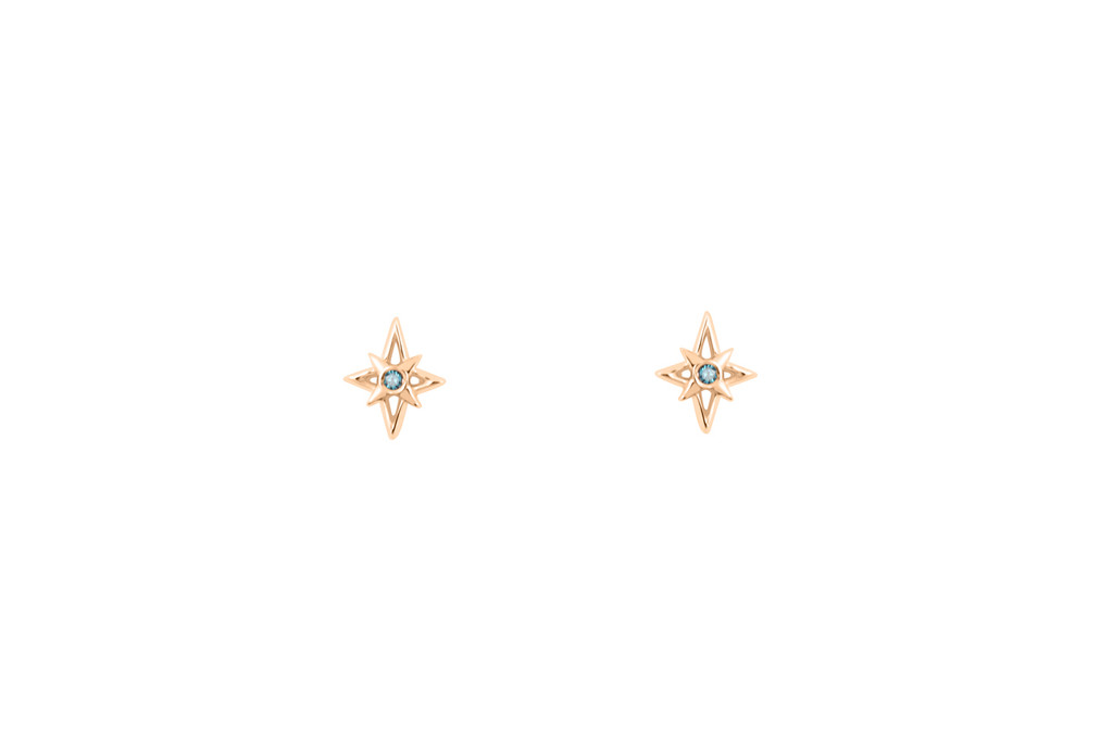 tai stud earrings five mint star jewelry major