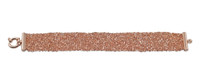 Rose Gold Plated Woven Mesh Bracelet