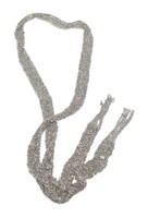 Silver Hand Woven Mesh Scarf Necklace