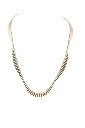 18K Gold Plated Sterling Silver Wave Necklace