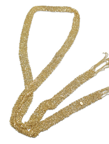 18K Gold Plated Hand Woven Mesh Scarf Necklace