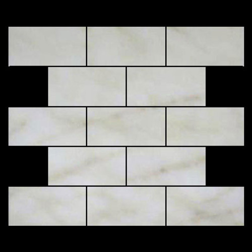Afyon Gold Sugar Marble 3x6 Subway Tile Polished