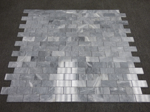 Bardiglio Gray Marble 2x4 Mosaic Tile Polished