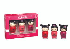 Kokeshi Rosy Girly Trio Nail Lacquer Set