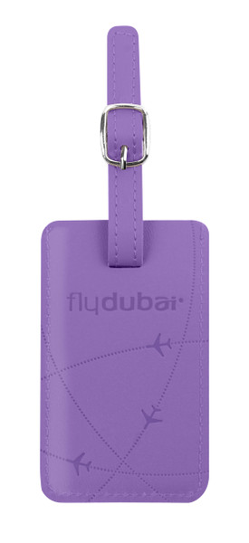 flydubai luggage tag - purple