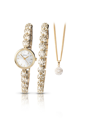 Lady's Crystal Beaded Watch Set by Sekonda