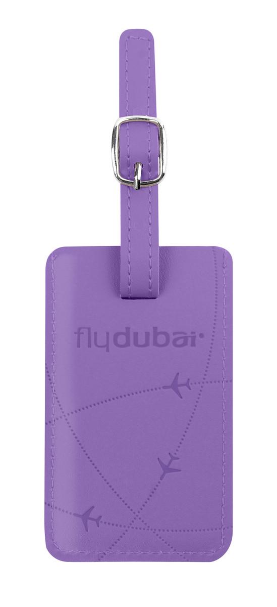 flydubai luggage tag - purple