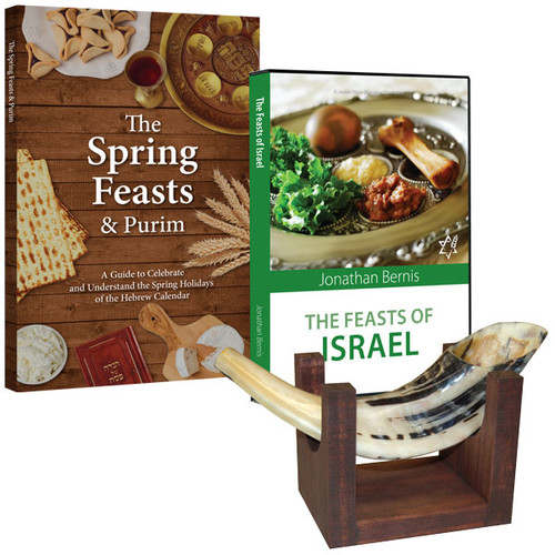 Small Shofar and Stand Package (2024)