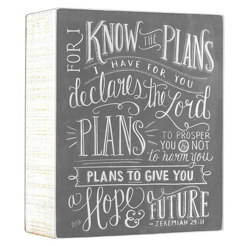 Jeremiah 29:11 Plaque