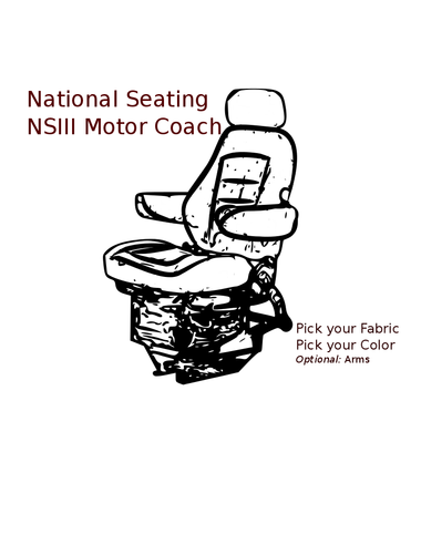 National Mechanical Suspension NSIII Motor Coach Driver Seat