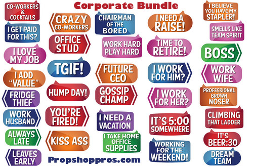 Corporate Signs | Photo Booth Props | Corporate Props