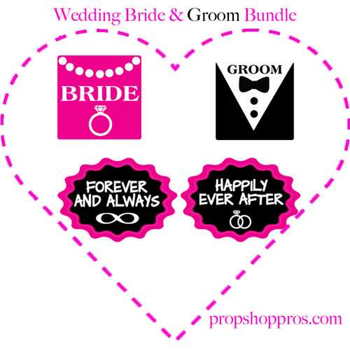 Wedding Signs | Bride & Groom Signs | Photo Booth Props