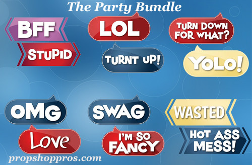 Party Signs | Party Bundle | B-STOCK | Photo Booth Props