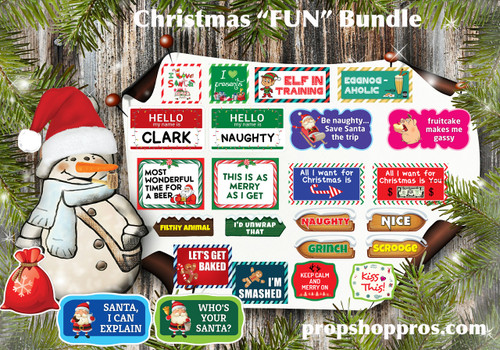Christmas Signs | Fun Bundle | B-STOCK | Photo Booth Props | Prop Signs