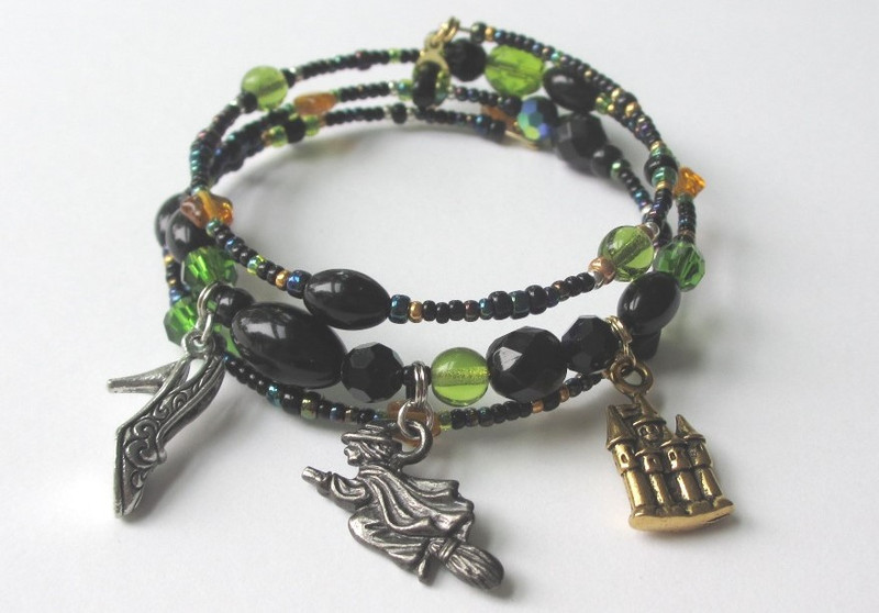 The Wicked Witch Bracelet evokes the Wicked Witch of the West, an iconic character from L.Frank Baum's novel The Wonderful Wizard of Oz.