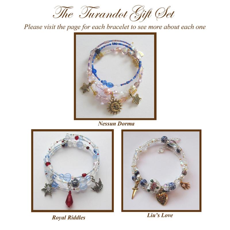 The set of three Turandot bracelets