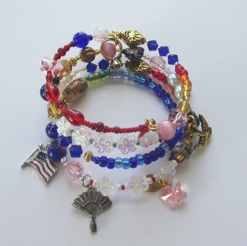 Beads and charms symbolize the narrative of Puccini's opera.