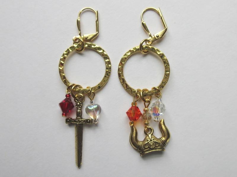 Siegfried and Brunnhilde Earrings