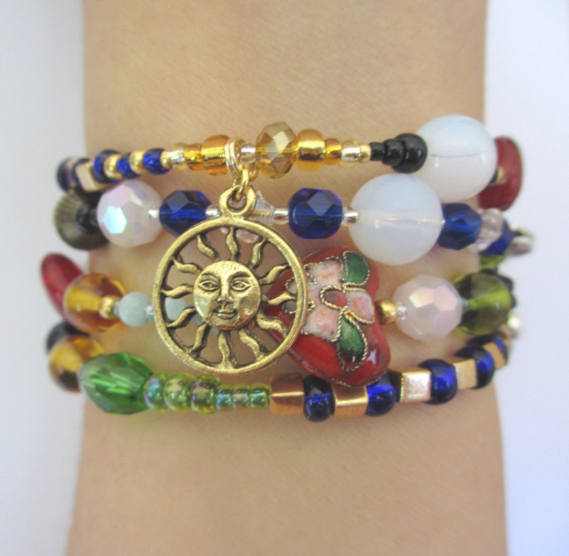The sun charm symbolizes the ultimate triumph of light over darkness.