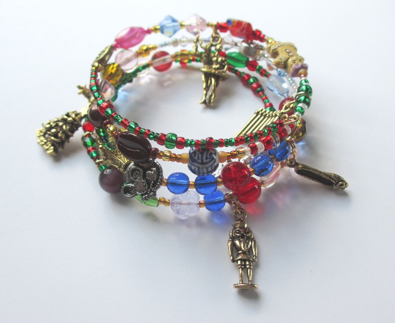 The Nutcracker Bracelets tells the story of the beloved holiday ballet through symbolic beads and charms.
