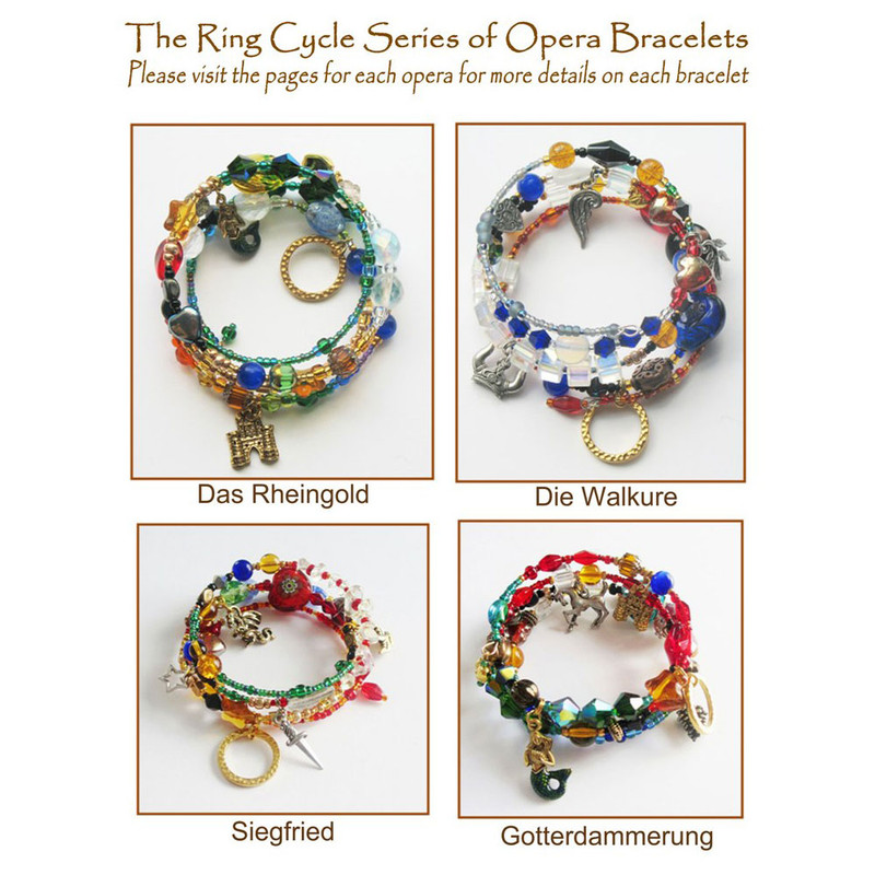 The Wagner's Ring Gift Set.  Visit pages for each opera to see the bracelet details.