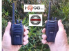 The Blackbox Bantam is small but powerful. The radio is only 3.75 inches tall and 2.3 inches wide.