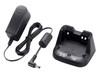 ICOM BC-193 Rapid Rate Smart Charger works with battery pack BP265.  This charging stand included the BC-123S AC adapter in package.